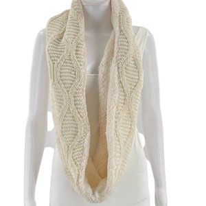 INC International Concepts Women's Infinity Scarf Cream Cable Knit ONE SIZE